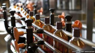 Whisky bottling line
