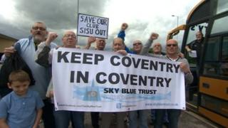 Protesting Sky Blues fans