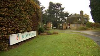 Novartis site in Horsham