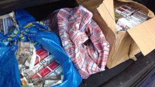 Cigarettes found during a raid in Great Yarmouth