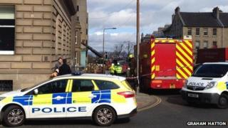 Emergency services at St Andrew Square (Pic courtesy of Graham Hatton)