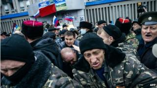 Pro-Russian armed group in Luhansk