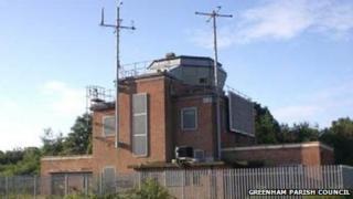 Greenham Common airbase control tower