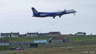 Plane at Sumburgh Airport