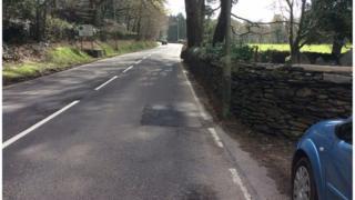A 487 at Eglwysfach