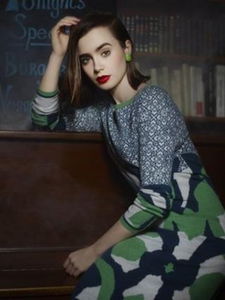 Chanel model wearing Barrie knitwear