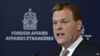 Foreign Affairs Minister John Baird appeared in Ottawa on 14 March 2014