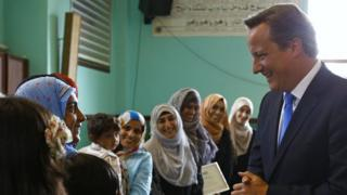 David Cameron visits a Mosque