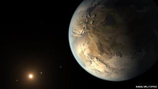 Artist's impression of Kepler 186f
