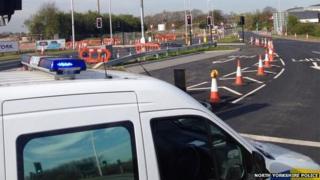 Askham Bar police cordon