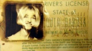 "In this undated photo provided by the South Dakota Attorney Generals Office, Cheryl Miller's driver""s license is seen"