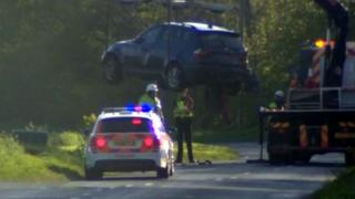 Crash at Stallingbrough, North East Lincolnshire
