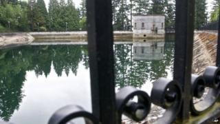 The Mount Tabor number 1 reservoir in Portland, Oregon 20 June 2011