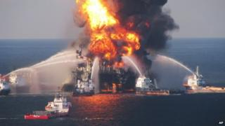 The Deepwater Horizon explosion in the Gulf of Mexico killed 11 people