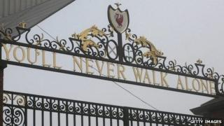 Shankley gates at Anfield
