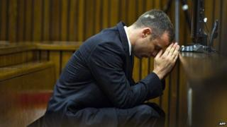 Oscar Pistorius in the dock on 17 April 2014