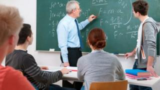 Teacher with class