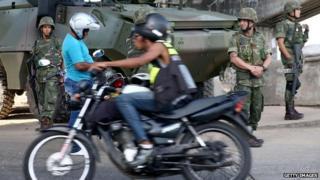 Brazilian soldiers in Rio, 19 April