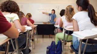 Busy classroom