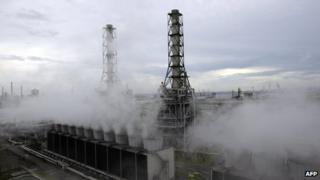 A natural gas power station in Japan