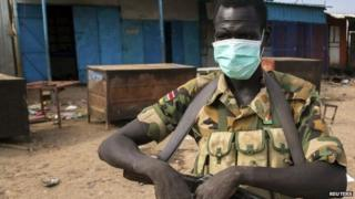 Rebel soldier in Bentiu