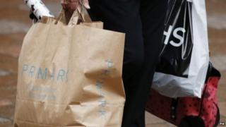 Shopper on Buchanan Street, Glasgow