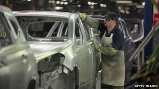 Nissan car plant worker in Sunderland