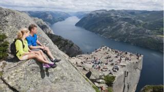 Preikestolen (Pulpit Rock) in Norway