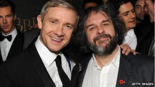 Martin Freeman and Peter Jackson