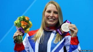 Stephanie Millward winning a Paralympic medal in 2012