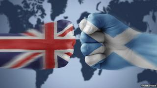 Union and Scottish flags