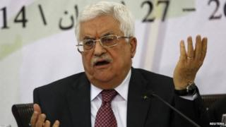 Palestinian President Mahmoud Abbas speaks in Ramallah. Photo: 26 April 2014