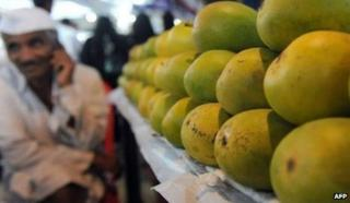 Mango stall in India