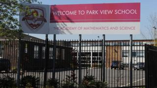 Park View School in Birmingham which is being investigated as part of allegations of a hardline Islamist takeover plot at a number of Birmingham schools