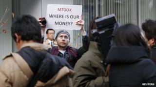 Bitcoin protester