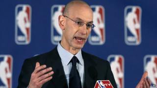 NBA Commissioner Adam Silver announces punishment for Los Angeles Clippers owner Donald Sterling,.