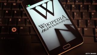 Wikipedia on a phone