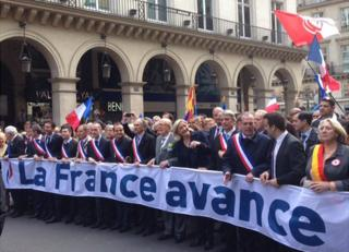 FN march in Paris, 1 May 14