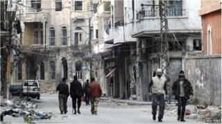 Street scene in Homs (file photo)