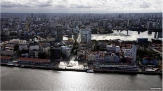 Recife aerial view