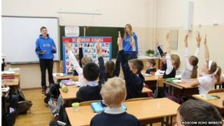 Network activists in Irkutsk school