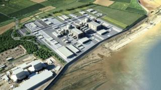 Artist's image of the Hinckley Point C plant