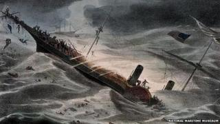 The sinking of the SS Central America