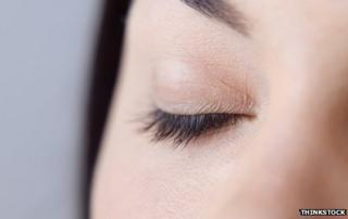 Image of woman's closed eye