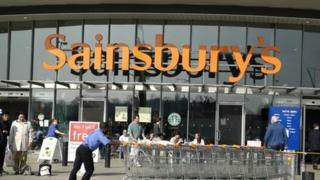 Sainsbury's supermarket in North Greenwich London