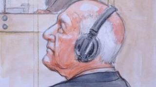 Artist's impression from Stuart Hall trial