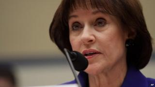 Former Internal Revenue Service (IRS) official Lois Lerner speaks on Capitol Hill in Washington, 5 March 2014
