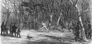 Foot race in London
