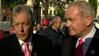 Peter Robinson and Martin McGuinness both attended the opening ceremony of the Giro d'Italia in Belfast