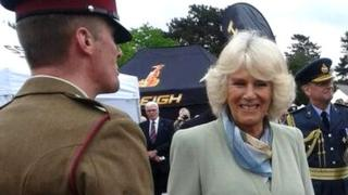 Soldier and Duchess of Cornwall